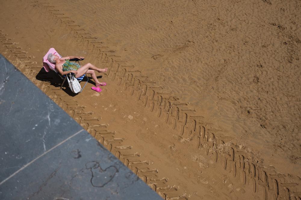 San Lorenzo Beach, Gijón, Asturias (northern Spain) by Ben Holbrook from DriftwoodJournals.com