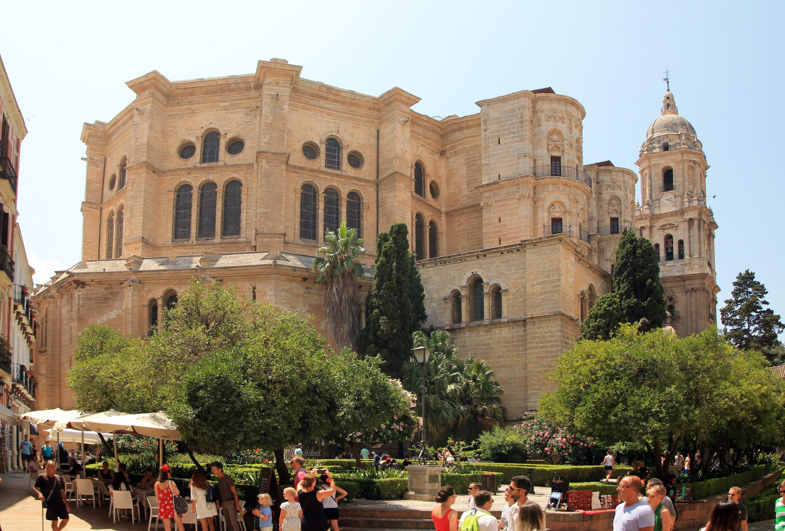 View of the CATHEDRAL OF MALAGA (Andalusia, Spain) from the north-east angle.
