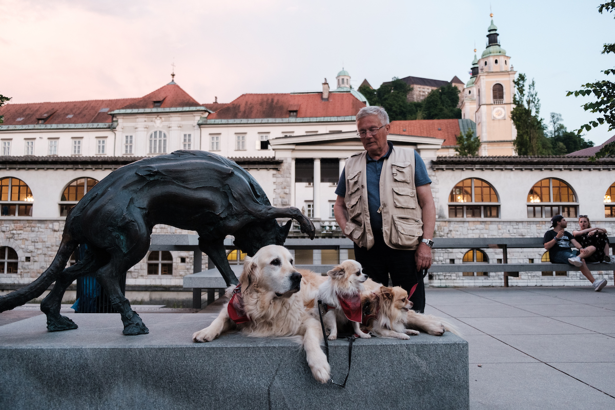 Statues on Butcher's Bridge, Ljubljana, Slovenia Old Town - Travel and Street Photography by Ben Holbrook from DriftwoodJournals.com-7537