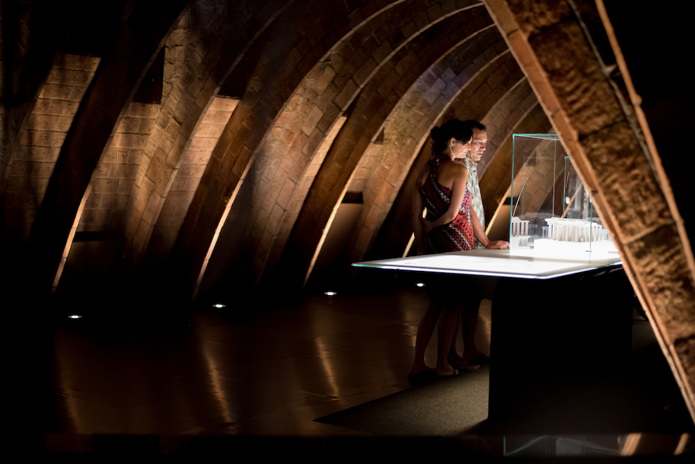 Antoni Gaudi's Parabolic Arches in the attic of Casa Mila (aka La Pedrera) Modernista Architecture, Eixample, Barcelona - by Ben Holbrook from DrifftwoodJournals.com4