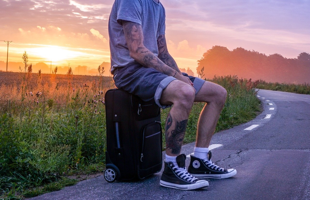Small Wheeled Carry-on Suitcase